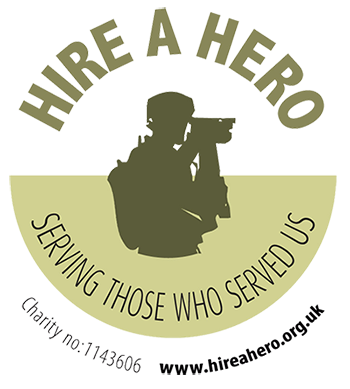 Hire a hero logo
